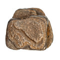 Brown Stone Rock On White Stock Photography - 45857492