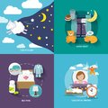 Sleep Time Icons Flat Royalty Free Stock Images - 45865329