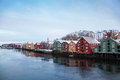 Trondheim Winter Cityscape Norway Royalty Free Stock Images - 45865629