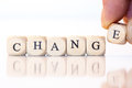 Change, Spelled With Dice Letters Stock Photography - 45866222