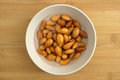 Almonds Soaking In A Bowl Of Water Stock Photos - 45871893