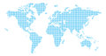 Squares World Map Royalty Free Stock Photography - 45875677