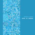 Vector Blue Field Floral Texture Vertical Frame Royalty Free Stock Image - 45878866