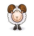 Sheep With Big Horns Royalty Free Stock Photo - 45880485