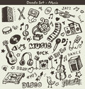 Music Doodles Royalty Free Stock Image - 45881176