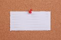 Blank Note Paper Pinned On Cork Stock Photos - 45888873