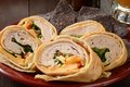 Chicken Wrap Sandwich Royalty Free Stock Photo - 45889265