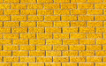 Energetic Yellow Brick Wall As A Background Image With Black Vig Stock Images - 45891994