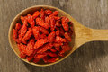 Red Dried Goji Berries Royalty Free Stock Photography - 45896677