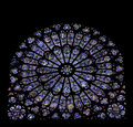 Stained Glass Window Of Notre Dame, Paris Royalty Free Stock Image - 4591876