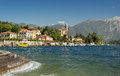 Waves Along The Coast Of Lake Como At The Town Of Tremezzo Stock Image - 45903551