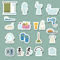Bathroom Icons Set Stock Photos - 45904933