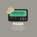 Pager The Old Wireless Telecommunication Technology Royalty Free Stock Photo - 45905175