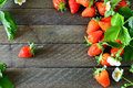 Delicious Strawberries On Wooden Boards Stock Photo - 45910490