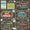 Christmas  Labels With Sale Offer, Vector Stock Images - 45916384