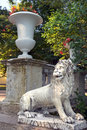 Lions On The Large Stone Staircase Pavlovsk Park Royalty Free Stock Photo - 45923095