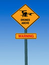 Warning Drones Above Sign Stock Photo - 45923270