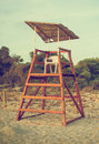Empty Lifeguard Tower. Royalty Free Stock Images - 45936429