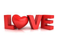 Red Heart In Word Love Stock Image - 45945101