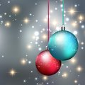 Merry Christmas Bauble Greeting Card Royalty Free Stock Image - 45954276