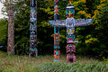 The Totem Poles, Stanley Park, Vancouver, BC. Stock Image - 45960361