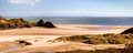 Three Cliffs Bay Panorama Royalty Free Stock Photo - 45988395