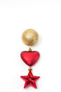 Christmas Ball, Heart And Star Royalty Free Stock Photography - 45988967