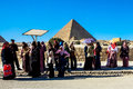 Women At The Great Pyramid Of Giza, Cairo, Egypt Stock Photography - 45996952