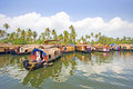 Traditional House Boats, Alleppey, Kerala, India. Royalty Free Stock Images - 46010669