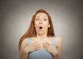 Surprise Astonished Woman Royalty Free Stock Image - 46011366