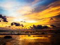 Cloudy Sunset Royalty Free Stock Photography - 46015517