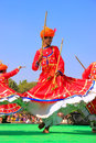 Indian Men In Traditional Dresses Dancing At Desert Festival, Ja Stock Photo - 46022330