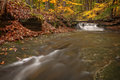 Waterfall In Autumn Stock Photography - 46028532