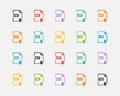 Vector Set Of Document File Formats And Labels Stock Photos - 46031163
