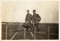 Vintage Photograph WWI Army Soldiers Stock Images - 46031744