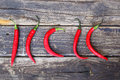 Fresh Red Hot Chili Peppers On An Vintage Wooden Table. Royalty Free Stock Photos - 46035138