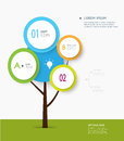 Minimal Infographic- Abstract Of Tree Label Concept Stock Photography - 46039142