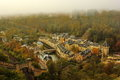 Aerial View Of Lower Part Of Luxembourg In A Autumn Day With Fog Stock Photo - 46046500