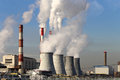 Coal Burning Power Plant With Smoke Stacks, Moscow, Russia Stock Photography - 46061212