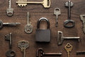 Check-lock And Different Keys Concept Royalty Free Stock Image - 46061526
