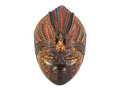 Wooden Painted Mask On White Stock Image - 46087611