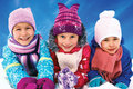 Children Playing On Snow In Winter Time Royalty Free Stock Photos - 46090388