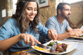 Couple Having Lunch Stock Photography - 46099332