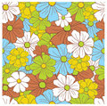 Seamless Floral Retro Pattern Stock Image - 4619361