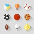 Sport Balls Icon Set - Vector White App Buttons Stock Photography - 46101762