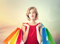 Young Woman With Colorful Shopping Bags Royalty Free Stock Photos - 46109238