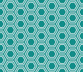 Teal And White Hexagon Tiles Pattern Repeat Background Stock Images - 46111214