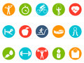 Fitness Round Buttons Icons Set Royalty Free Stock Photos - 46124838