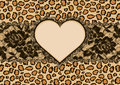Leopard Background And Heart Frame Royalty Free Stock Photos - 46132898