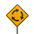 Roundabout Sign Isolate Royalty Free Stock Photography - 46138867